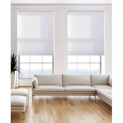 "Symple Stuff Light Filtering Pure White Cellular Shade Size: 71.5"" W x 64"" L"