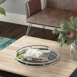 Round Polished Nickel Tray