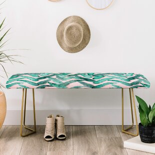 Dash and Ash Faux Leather Bench