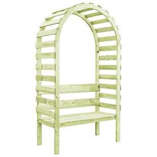 Review Brambly Cottage Garden Pergola With Bench 130X60x230 Cm Impregnated Pinewood