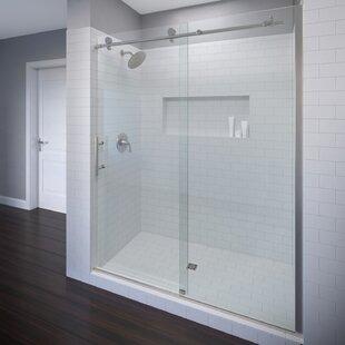 Vinesse 59 X 76 Single Sliding Fixed Panel Shower Door
