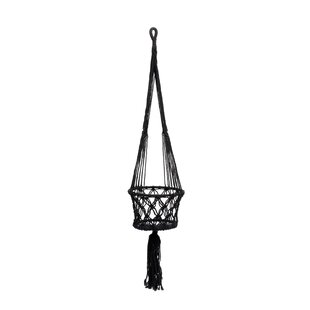 Macrame Natural Fibre Hanging Basket By Bazar Bizar
