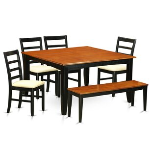 Pilning 6 Piece Extendable Solid Wood Dining Set