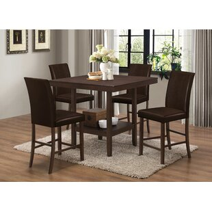 BestMasterFurniture 5 Piece Counter Height Dining Set
