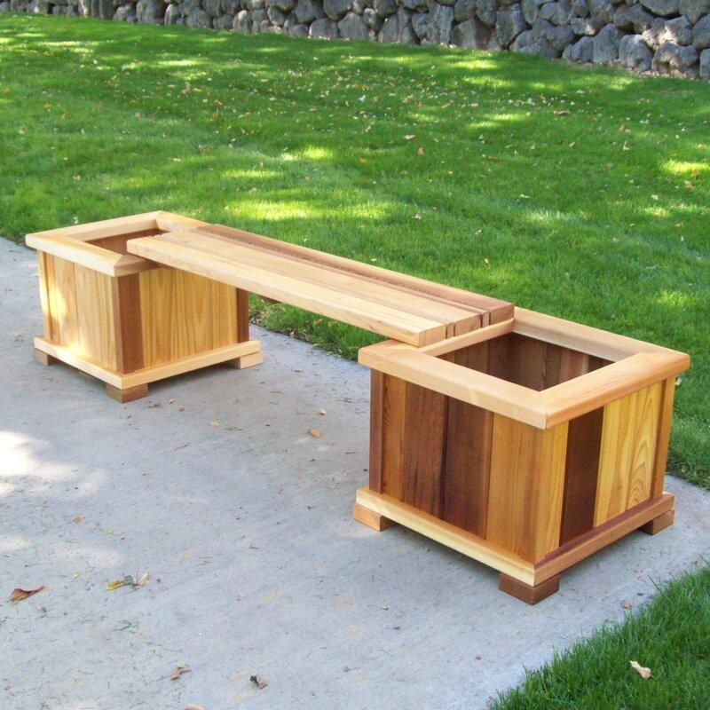 Outdoor Planter Bench Woodcountry planter bench reviews wayfair planter bench workwithnaturefo