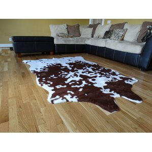 Chanler Brown/White Cow Fur Area Rug