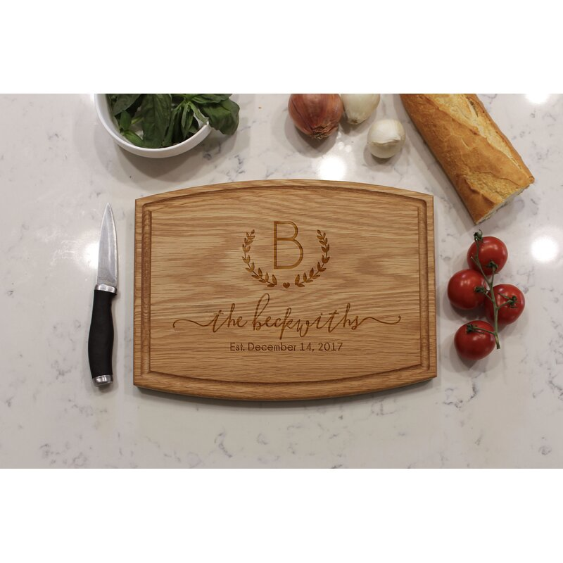 Etchey Oak Wood Cutting Board