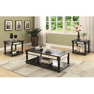 Canora Grey Jannie 3 Piece Coffee Table Set