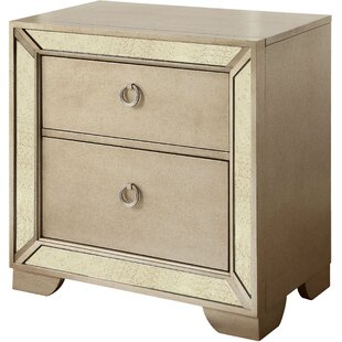 Ligia 2 Drawer Nightstand