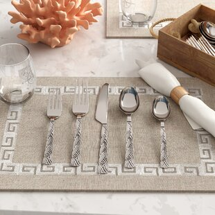 Xerovounos Mirror 20 Piece Flatware Set, Service for 4