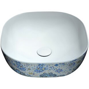 Great Price Byzantian Vitreous China Circular Vessel Bathroom Sink By ANZZI