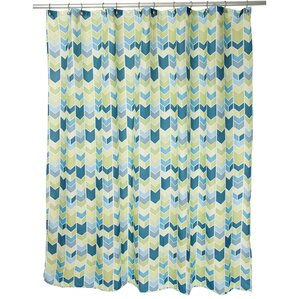 Anthony Shower CurtainChevron Shower Curtains You ll Love   Wayfair. Teal And Yellow Shower Curtain. Home Design Ideas