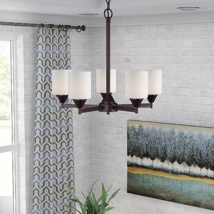Latitude Run Burchell 5-Light Shaded Chandelier