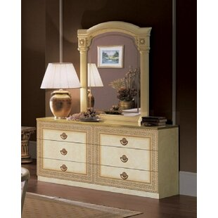 Stirling 6 Drawer Double Dresser with Mirror
