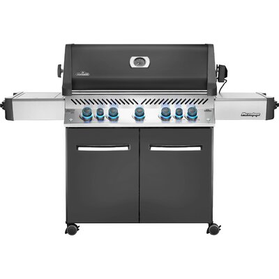 Prestige® 5-Burner Gas Grill with Side Burner Napoleon Gas Type: Propane, Finish: Grey