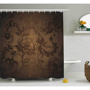 Pottsville Floral Paisley Ivy Shower Curtain