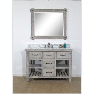 Affordable Wigley Solid Fir 49 Single Bathroom Vanity Set ByBreakwater Bay