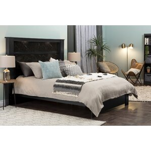Gloria Queen Platform Bed with King Headboard by South Shore