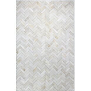 Foraker Cow Hide Hand-Woven Cream Area Rug By Trent Austin Design