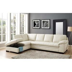Woodland Leather Sectional by Red Barrel Stu..