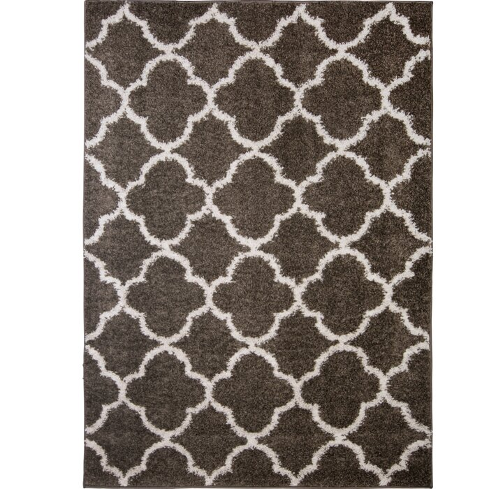 Synergy Dark Gray White Area Rug