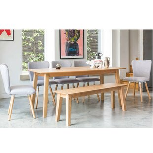 Fairway Dining Set With 5 Chairs And 1 Bench