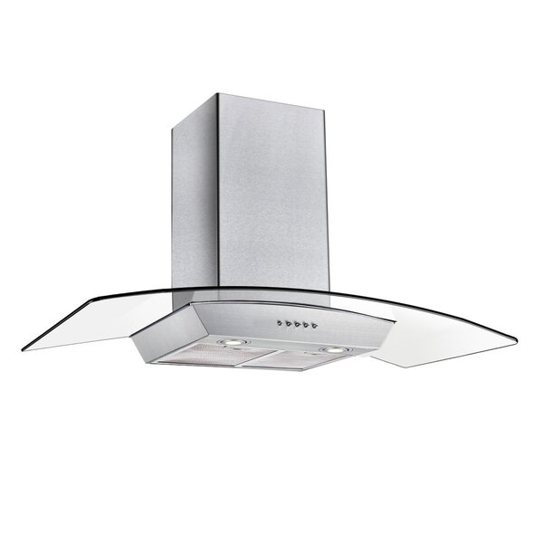 36 400 CFM Convertible Island Mount Range Hood with Stainless Steel Baffle Filters and 4 Ultra bright Soft White LED Lights
