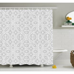 Lace Victorian Damask Antique Baroque Design With Oriental Effects Renaissance Art Shower Curtain Set