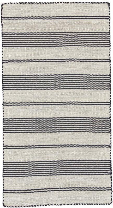Alicea Hand-Woven Black Area Rug