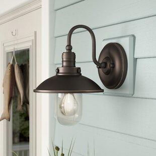 Beachcrest Home Emory 1-Light Outdoor Barn Light