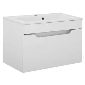 Belfry Bathroom Laura 80cm Wall Mounted Vanity Unit with Tap