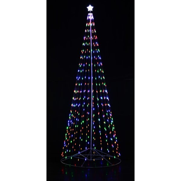 Collapsible Christmas Tree.Homebrite Outdoor White Led Cone Tree With Collapsible Base And Wireless Remote With 8 Flashing Modes
