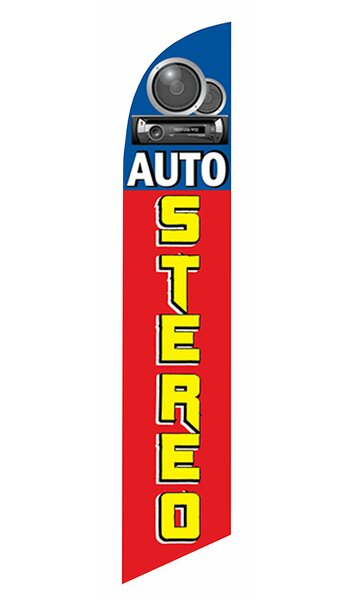 Neoplex Auto Stereo Polyester 138 X 30 In Feather Banner Wayfair
