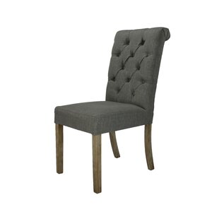 Stanly Rolled Upholstered Dining Chair (Set of 2)