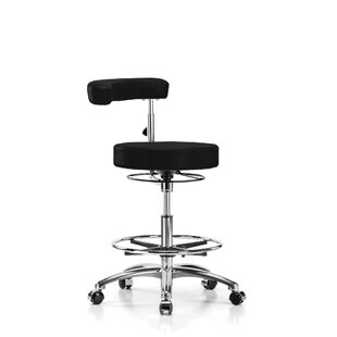 Height Adjustable Dental Stool with Procedure Arm and Foot Ring by Perch Chairs & Stools
