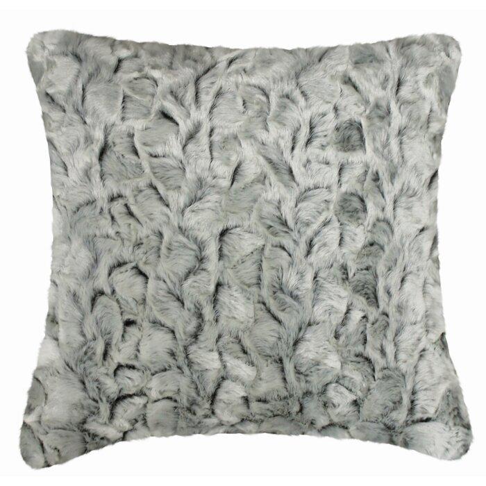 Faux Fur Decorative Pillow.Phan Indoor Outdoor Faux Fur Throw Pillow