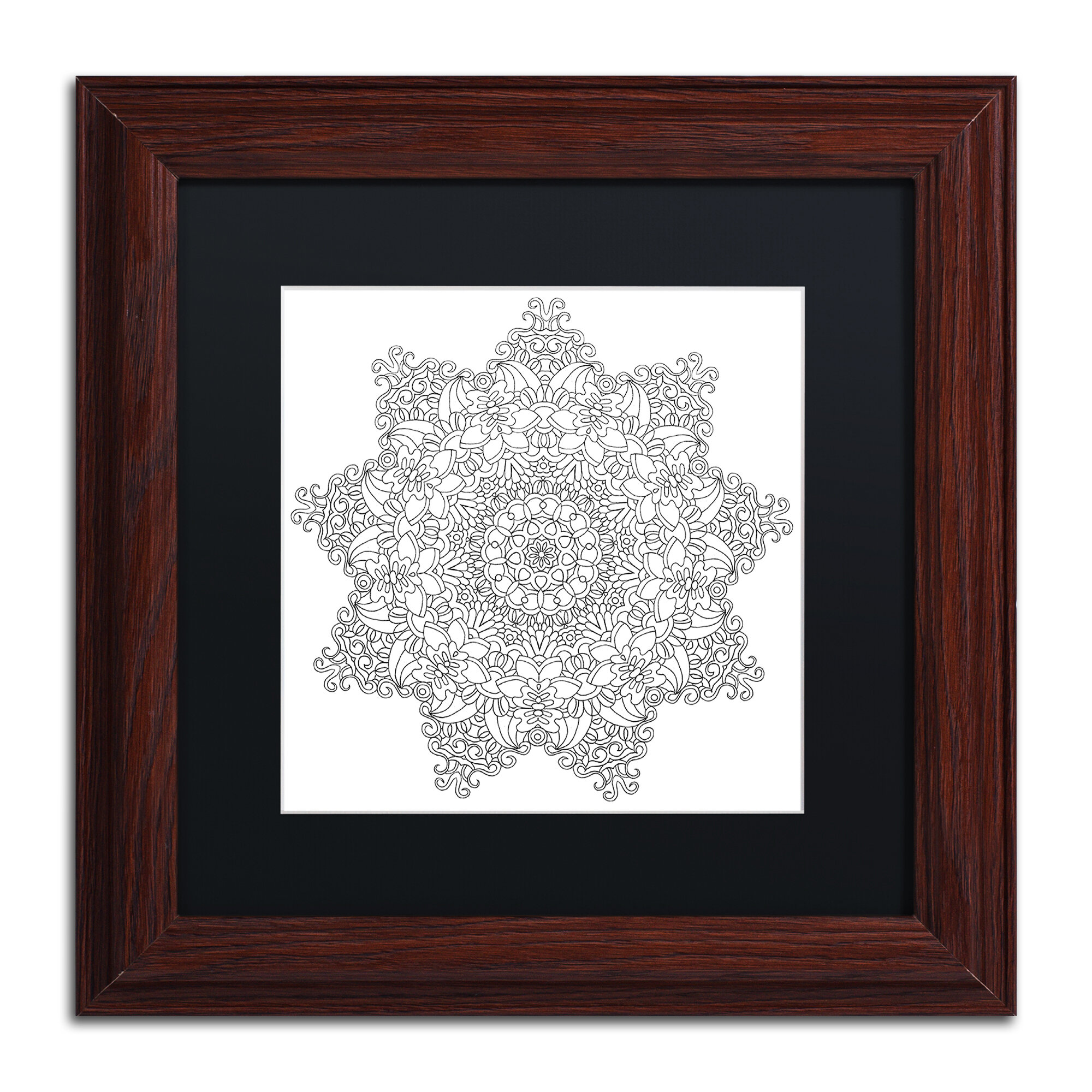 Trademark Art Mixed Coloring Book 37 By Kathy G Ahrens Framed Graphic Art