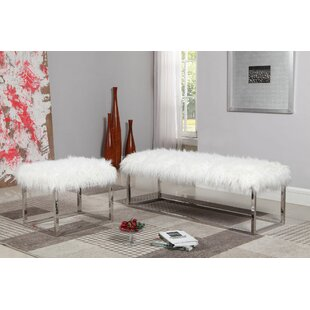 Lanz Faux Leather Bench by House of Hampton