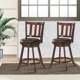 Abideen Swivel 29.5'' Bar Stool (Set of 2) by Red Barrel Studio®