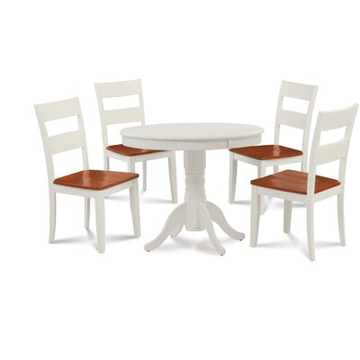 Wondrous Hopson 5 Piece Solid Wood Dining Set August Grove Table Forskolin Free Trial Chair Design Images Forskolin Free Trialorg