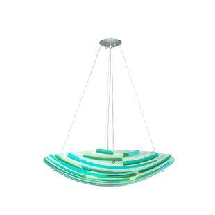 Meyda Tiffany Metro Fusion La Spiaggia Glass 4-Light Bowl Pendant