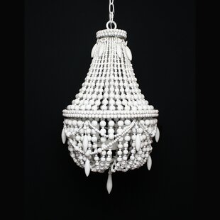 DeMontfort Beaded 3-Light Empire Chandelier by Ophelia & Co.