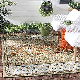 Serrano Green/Orange Indoor/Outdoor Area Rug