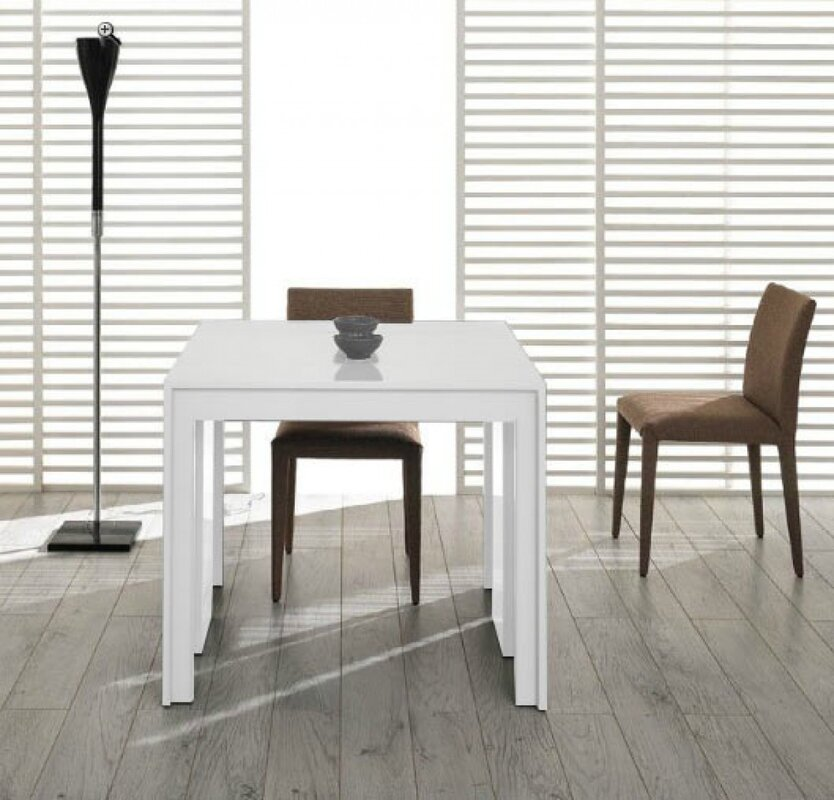 gerardo ultra compact extendable dining table - White Extending Dining Table