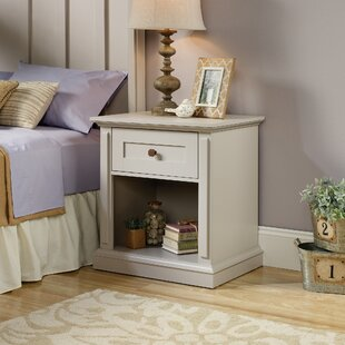 Laurel Foundry Modern Farmhouse Mechling 1 Drawer Night Stand
