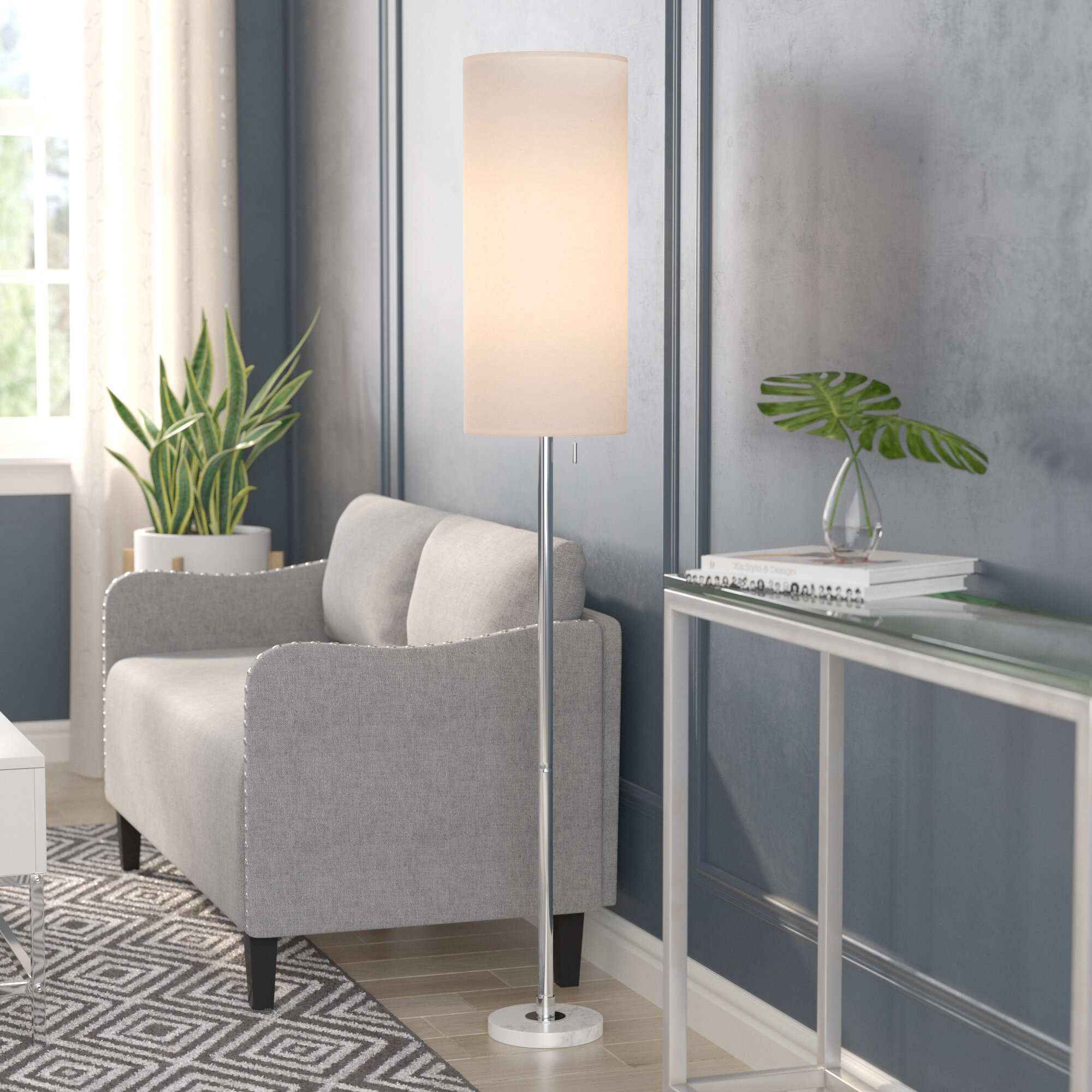 Orren Ellis Cauldwell 60 5 Floor Lamp Reviews Wayfair