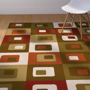 Compare prices Justen Brown/Green Area Rug By Corrigan Studio