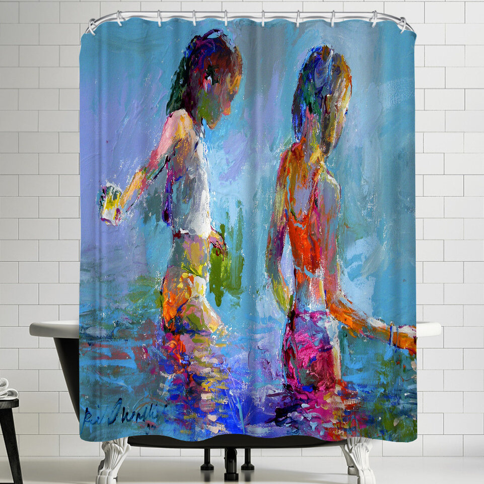 East Urban Home Richard Wallich Catching Minnows Single Shower Curtain Wayfair