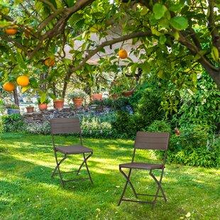 Kamren Foldable Garden Chair Set (Set Of 2) By Sol 72 Outdoor