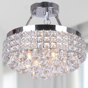 Mckinnie 4-Light Semi Flush Mount by House of Hampton